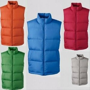 Lands' End men's down vest